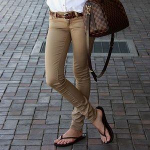 AE Khaki Skinny Jeans